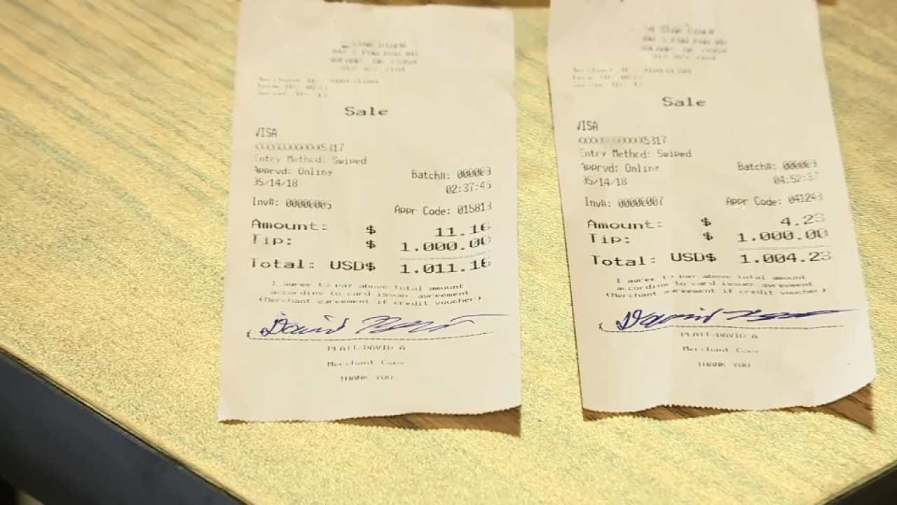 Truck Driver Leaves Roland Waitress $2,000 Tip On Mother's Day