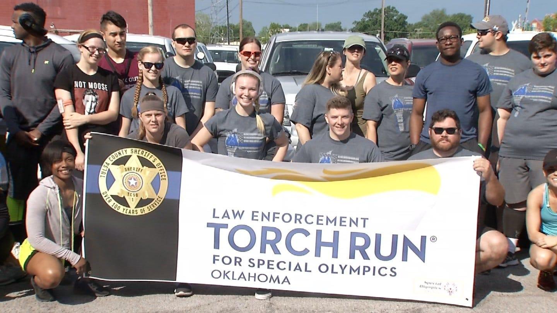 Tulsa County Deputies Help Kick Off 2018 Special Olympics