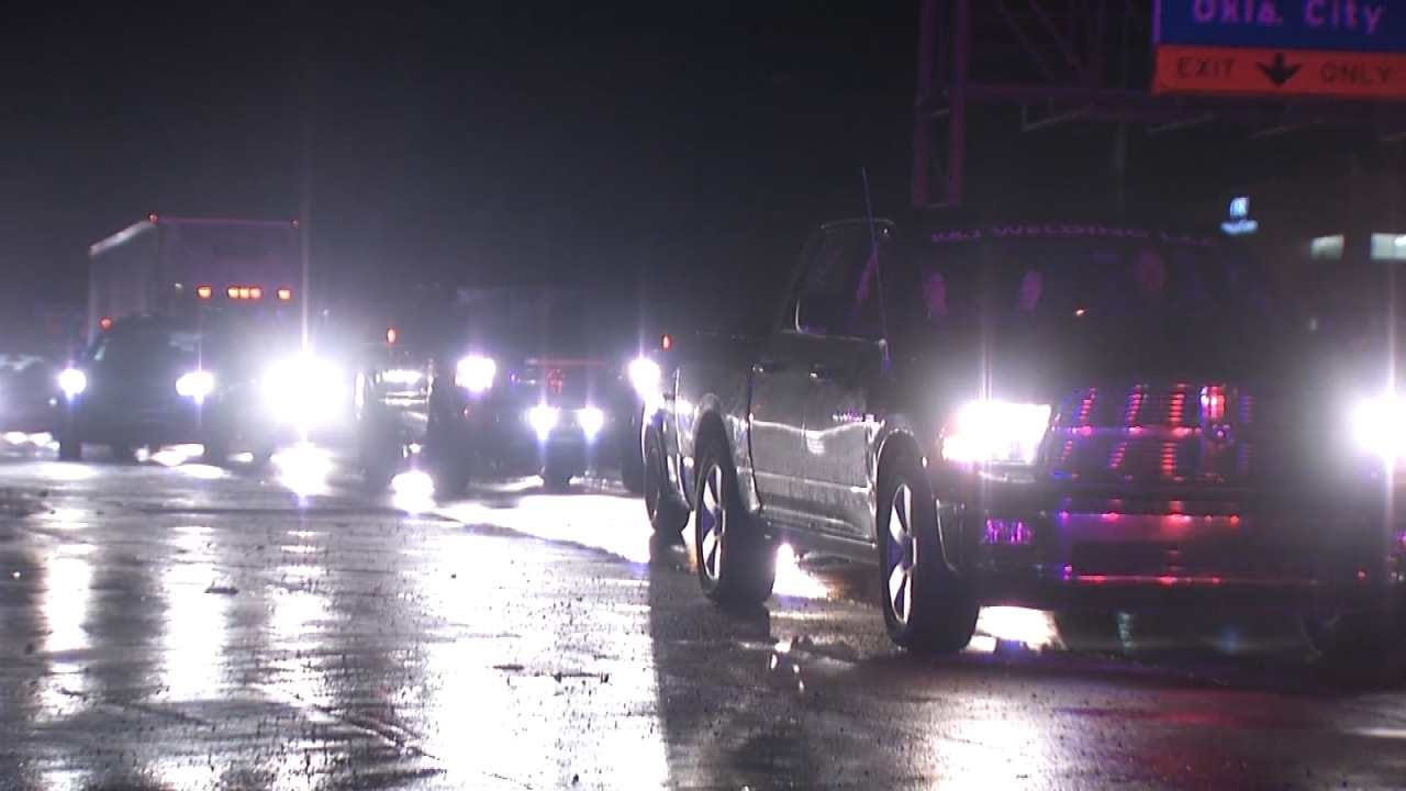 Trash Truck Crash Stops Traffic On Tulsa Highway