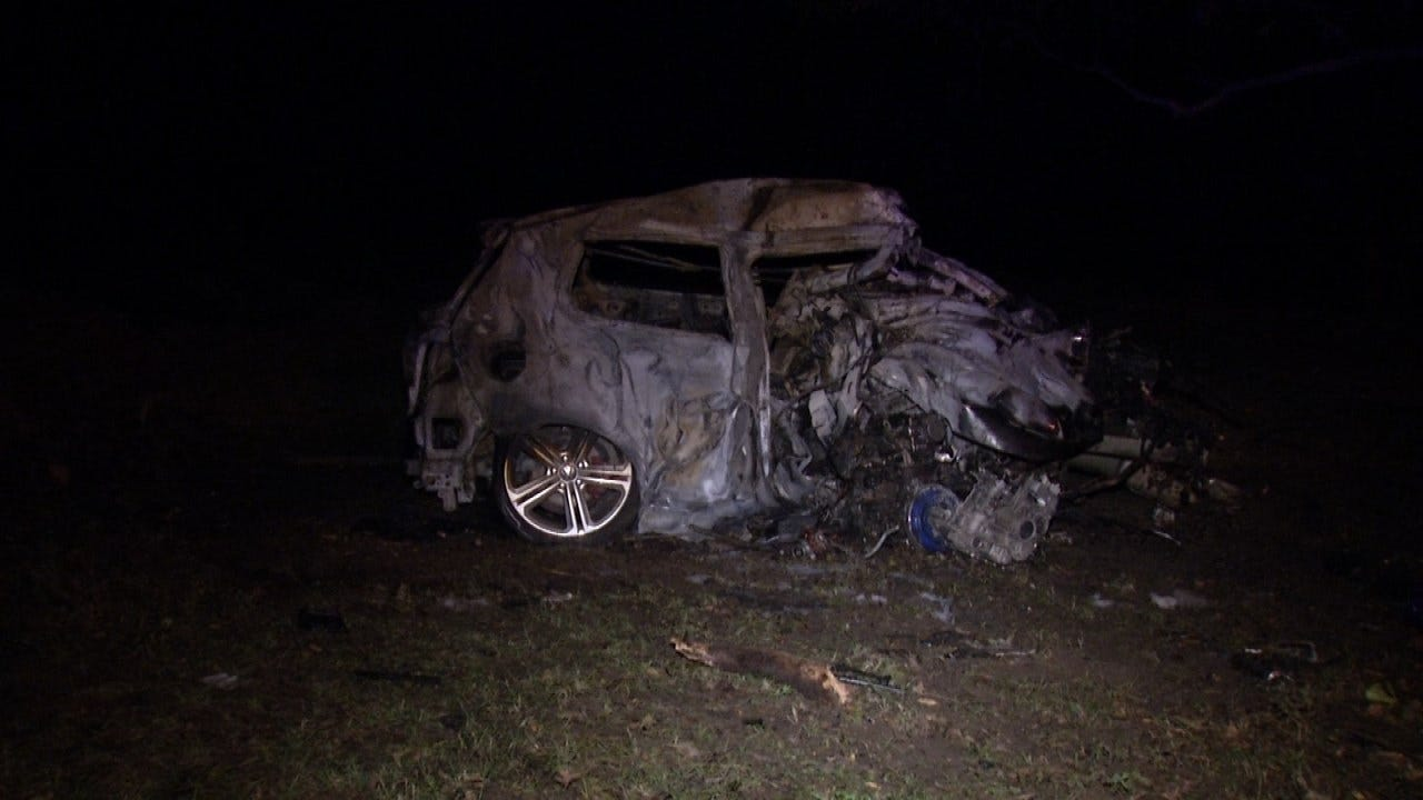 Jenks Man Dies In Tulsa County Car Crash And Fire