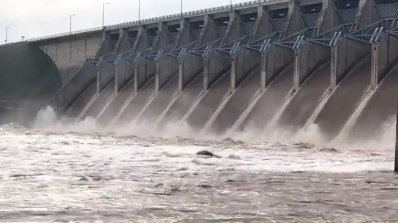 Corps Begins Additional Release Of Water Into Arkansas River From Keystone Dam