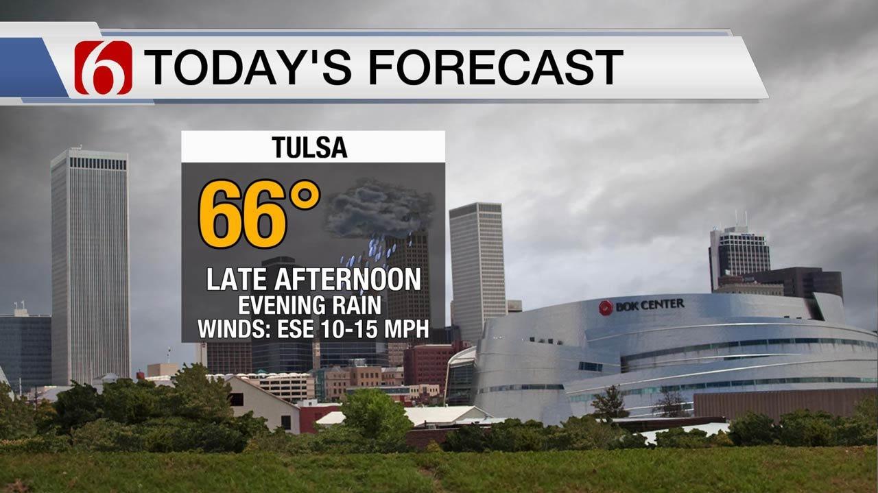 Rain Possible Across Eastern Oklahoma Wednesday Afternoon