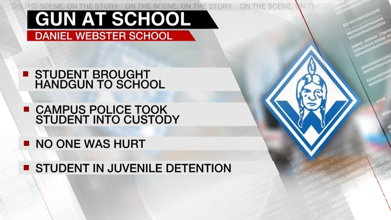 Tulsa Student In Custody After Bringing Gun To School