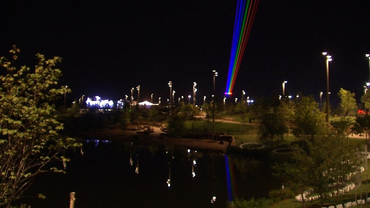 Gathering Place's 'Global Rainbow' Lighting Up Tulsa's Sky