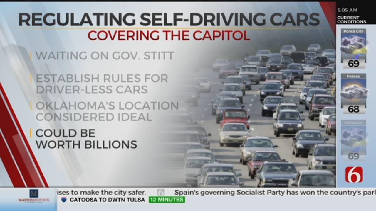 Bill Regulating Self-Driving Cars Awaits Governor's Signature