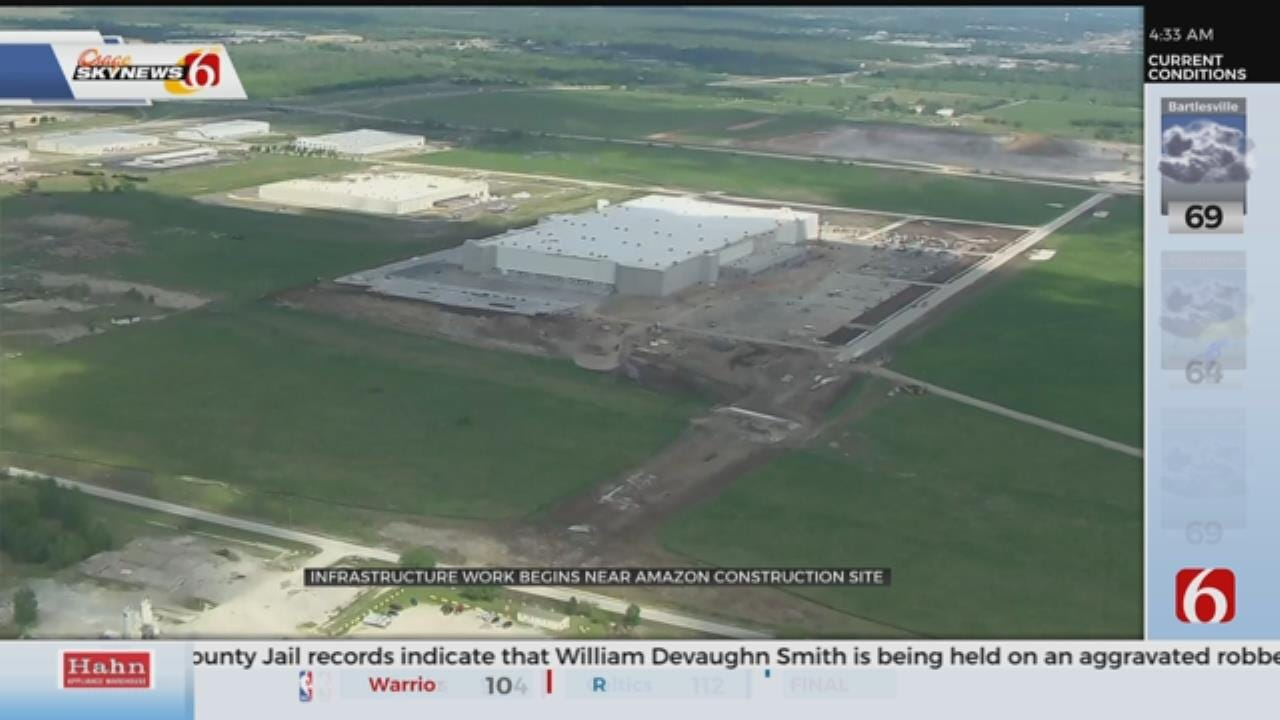 Infrastructure Work Starts Near Tulsa Amazon Fulfillment Center