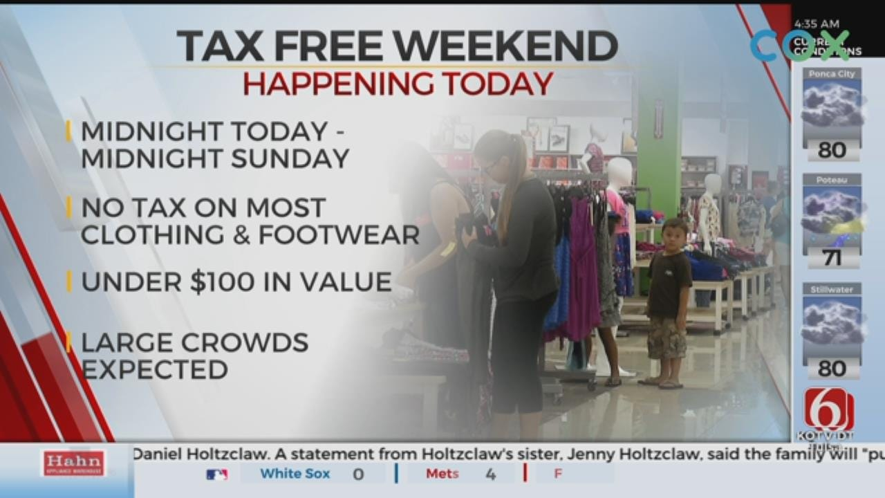 Tax-Free Weekend Starts Friday For Oklahoma