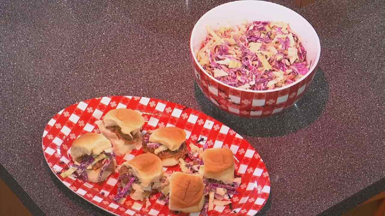 Surf's Up BBQ Pork Sliders & Amber's Maple Ginger Coleslaw