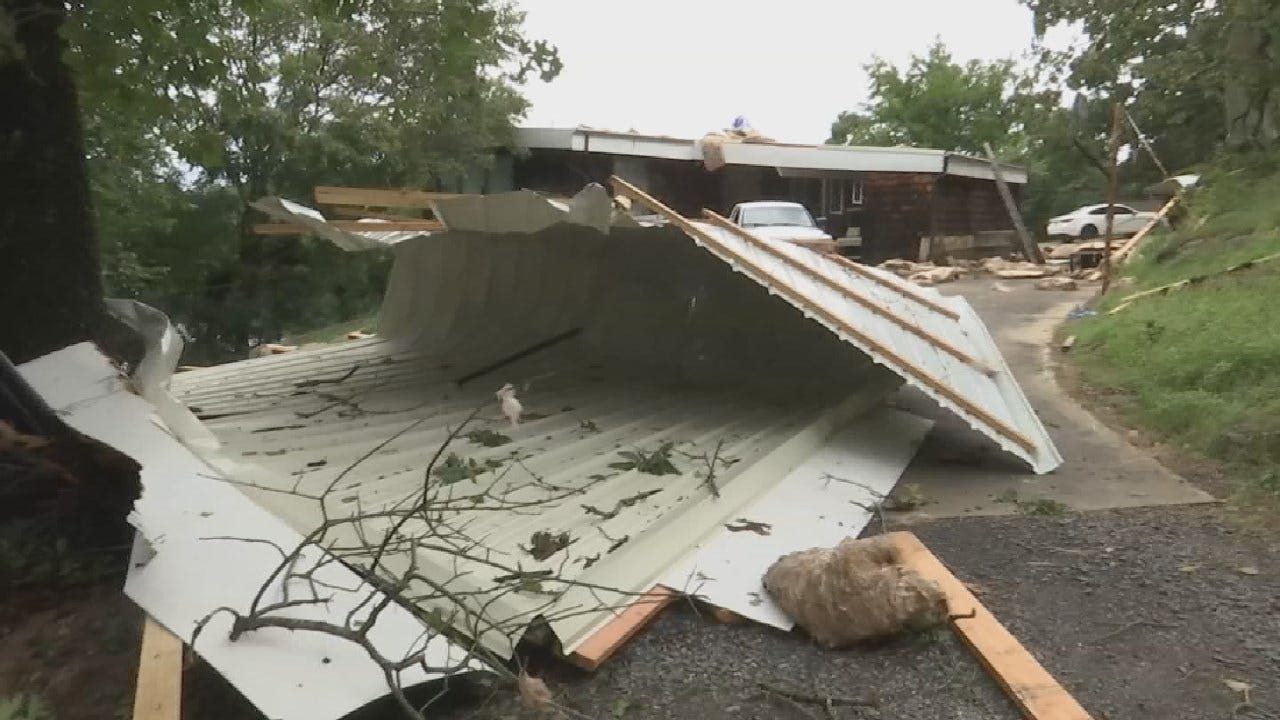 Ft. Gibson Couple Dealing With Damage After Storms Tear Away Roof