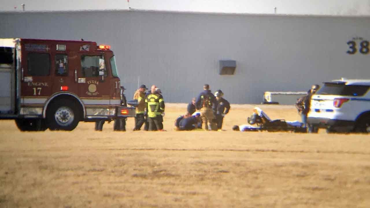 Pilot Taken To Hospital After Bad Landing At Tulsa Airport