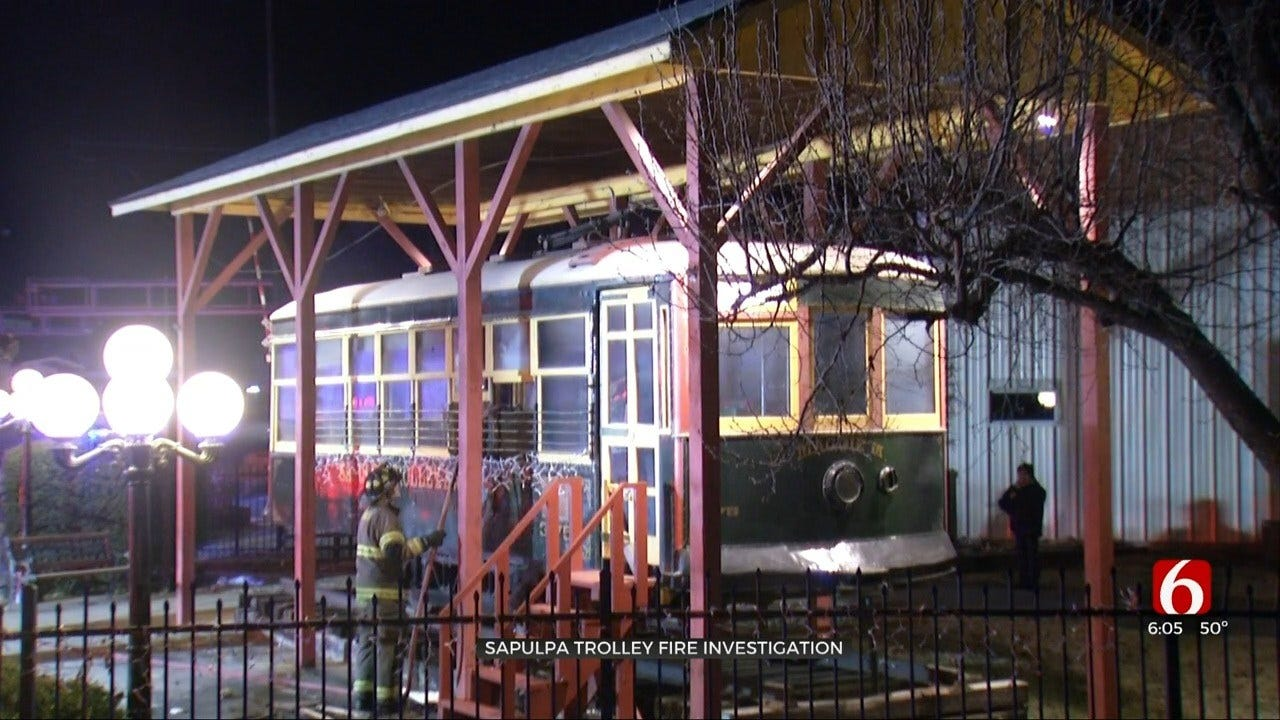 First Responders Investigating Cause Of Fire On Sapulpa Trolley