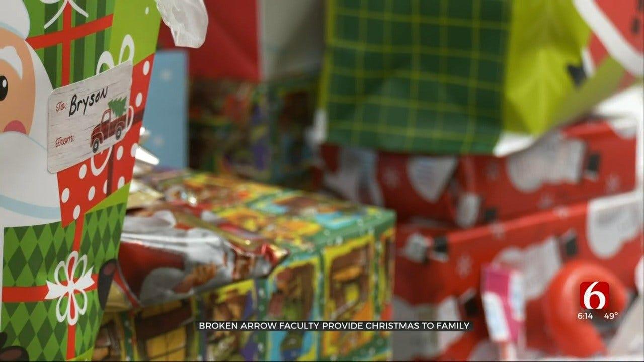 Broken Arrow Faculty Provides Christmas For Family