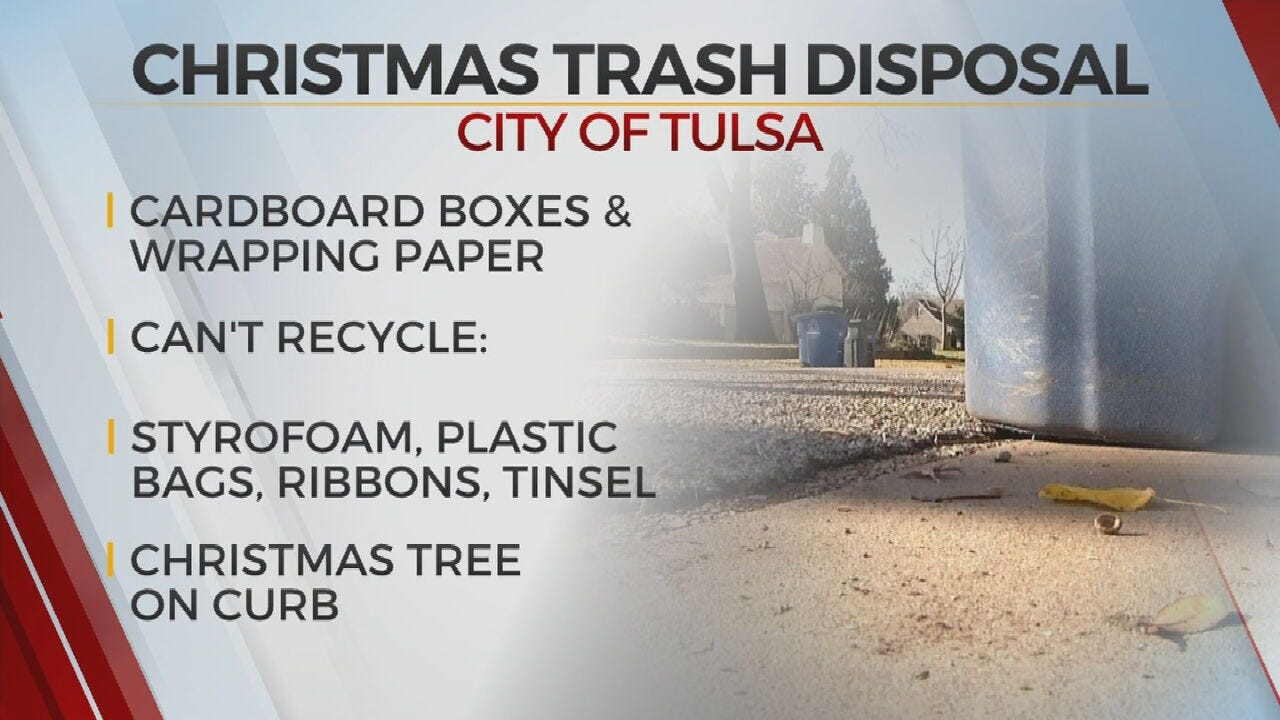 City Reminds Tulsans Of Holiday Recycling, Tree Disposal