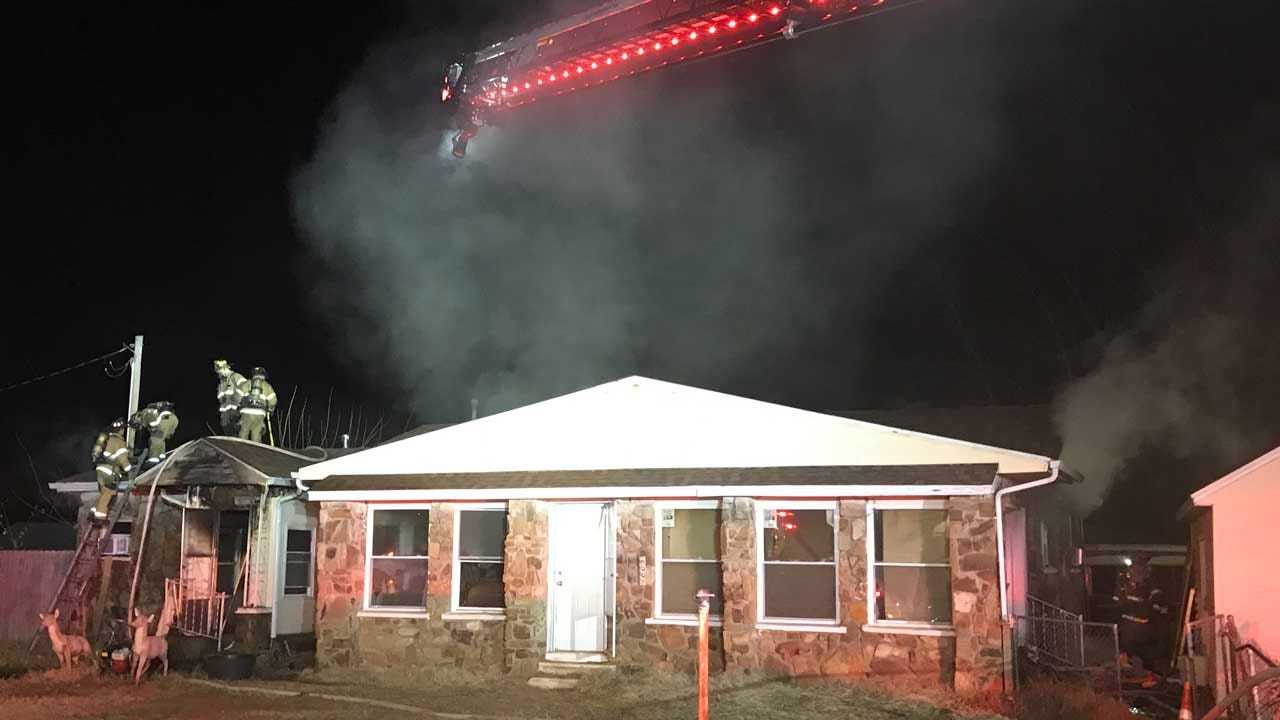 Firefighters Respond To House Fire Near Sand Springs