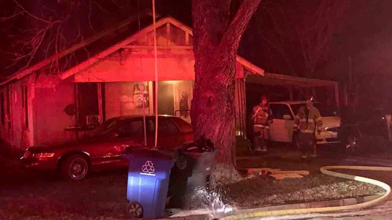 Firefighters Investigate Tulsa House Fire