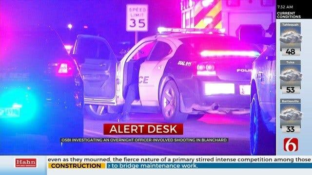 OSBI Investigates Officer-Involved Shooting In Blanchard