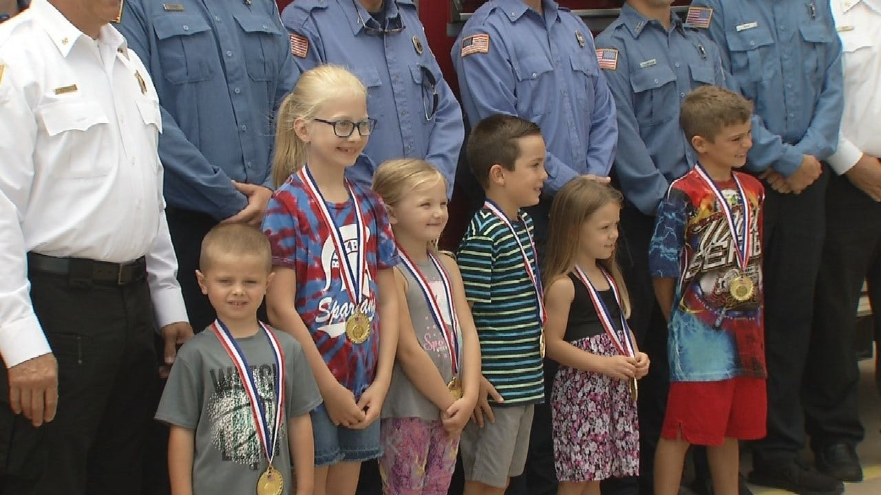 Bixby Fire Department Presents Junior Firefighter Awards
