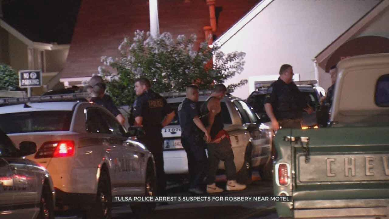 3 Arrested After Armed Robbery Near Tulsa Hotel