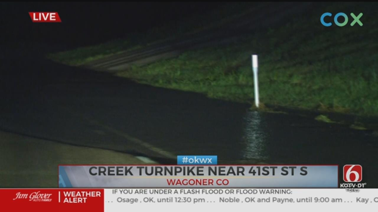 Flooding Closes Part of Creek Turnpike In Wagoner County