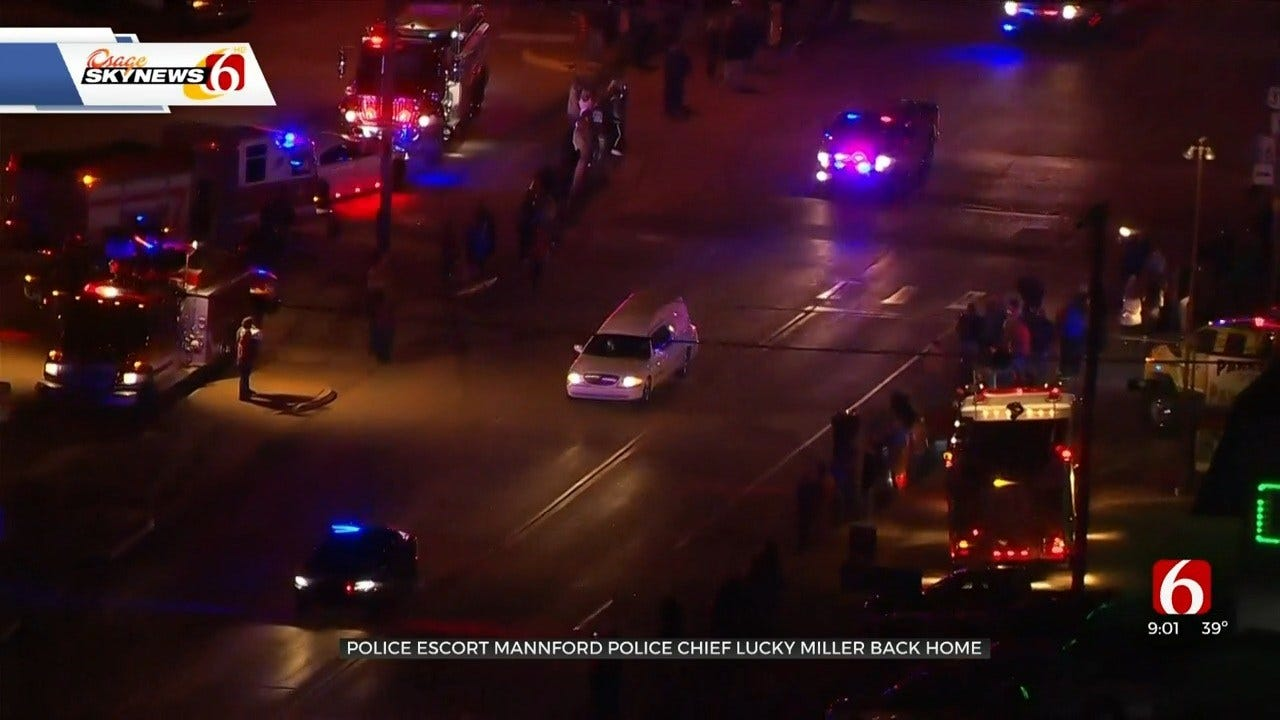 Mannford Police Chief's Body Escorted Across State By Oklahoma Law Enforcement