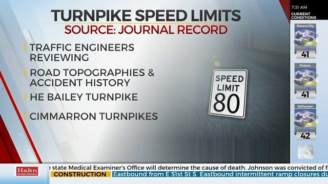 Turnpike Speeds Not Changing Yet, More Research Needed, Officials Say