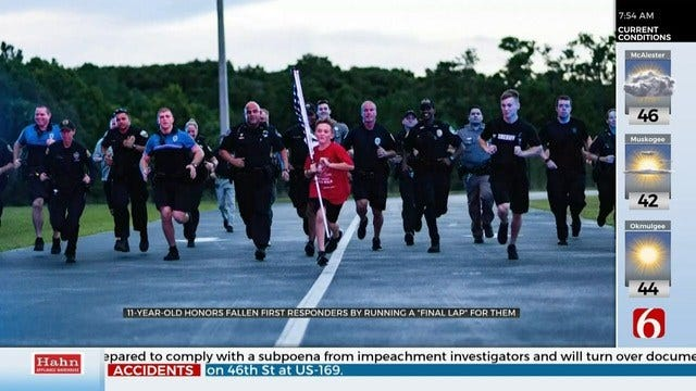 11-Year-Old Running For Fallen First Responders Inspires Others