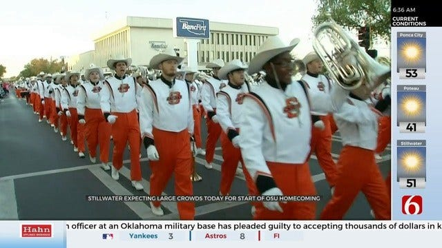 OSU Prepares For Homecoming Events; Stillwater Police Aid In Security