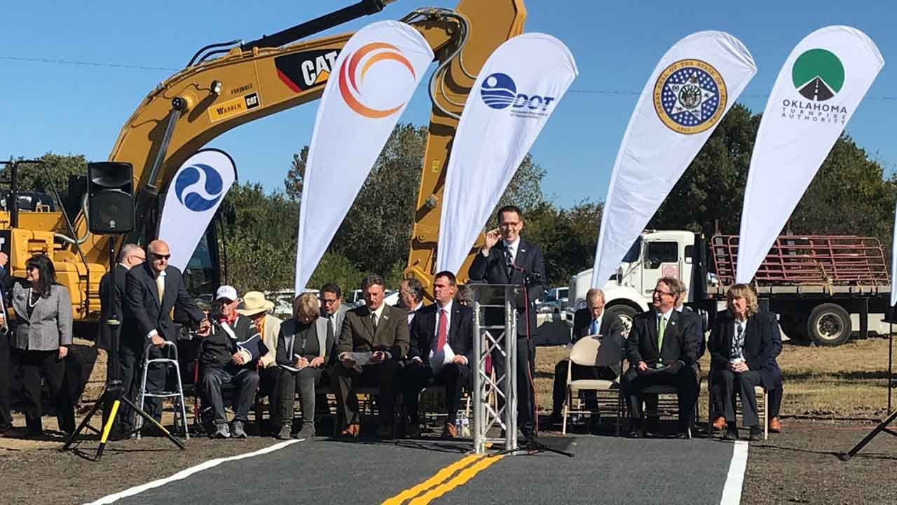 OTA Holds Groundbreaking For Gilcrease Expressway Extension