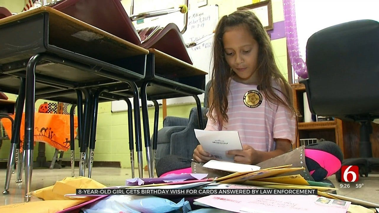 Oklahoma Girl's Birthday Wish Answered By Law Enforcement, Receives Hundreds Of Letters