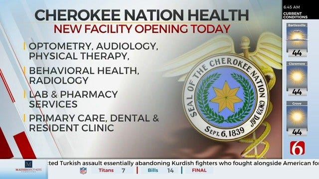 Part Of The Cherokee Nation's New Health Facility Opens