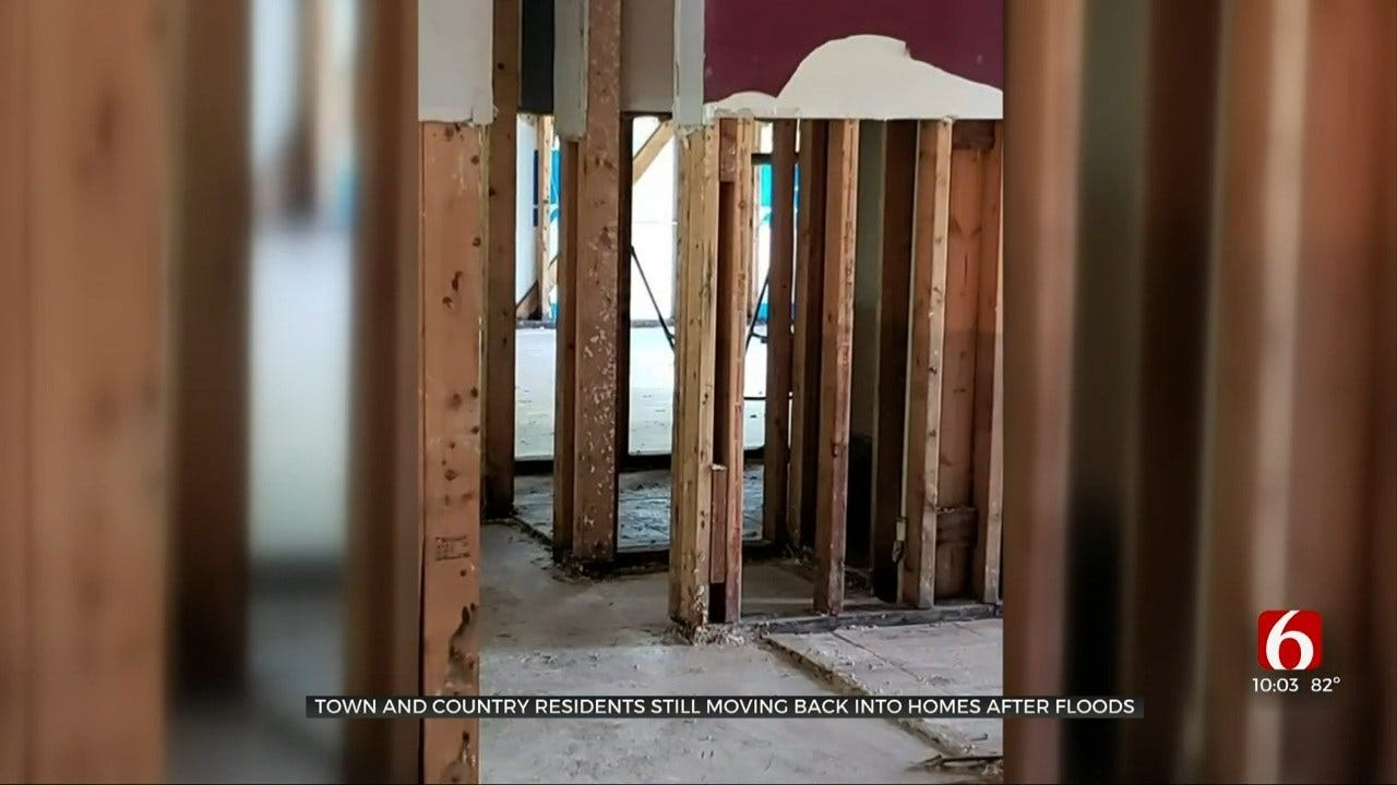 Sand Springs Woman Happy Her Home Is Liveable Again After Flooding