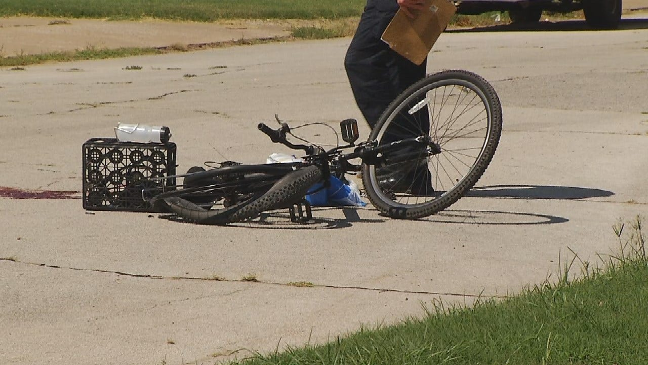 Tulsa Police Investigating After Bike Rider Struck By Vehicle