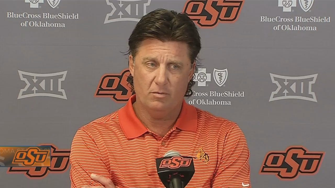 Mike Gundy Pleased With Spencer Sanders' Performance