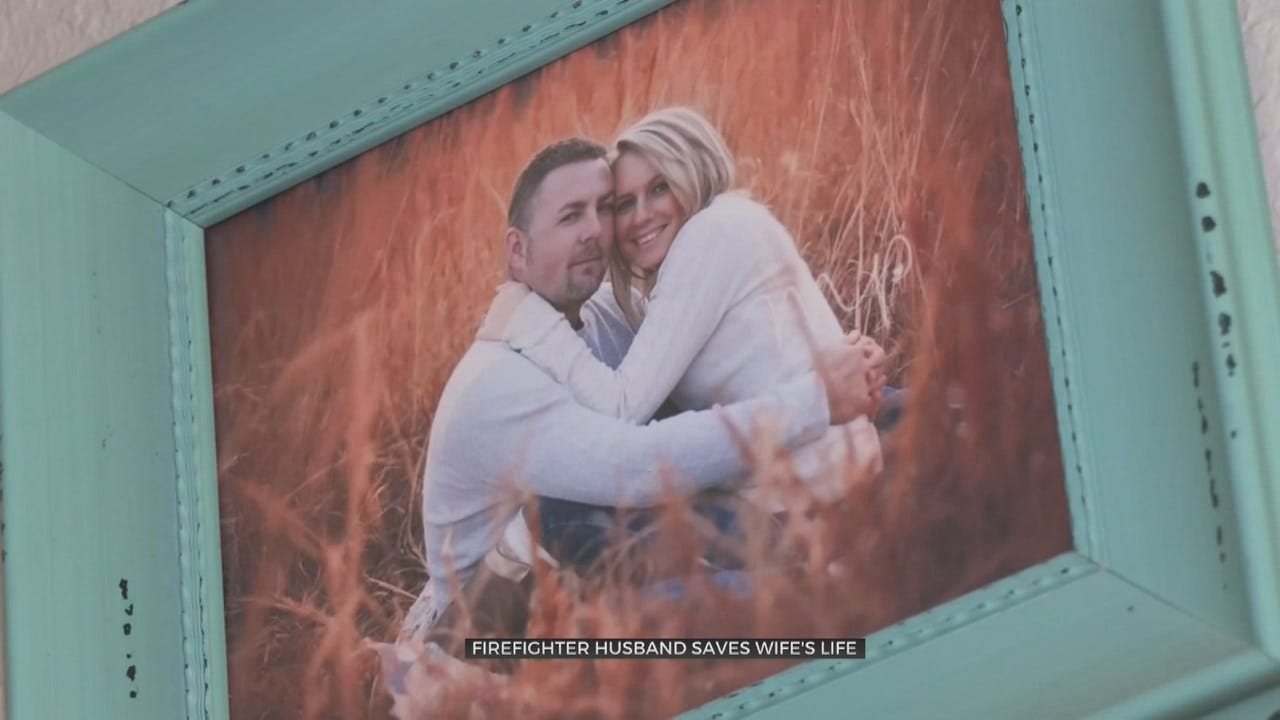 Muskogee Firefighter Saves His Wife's Life