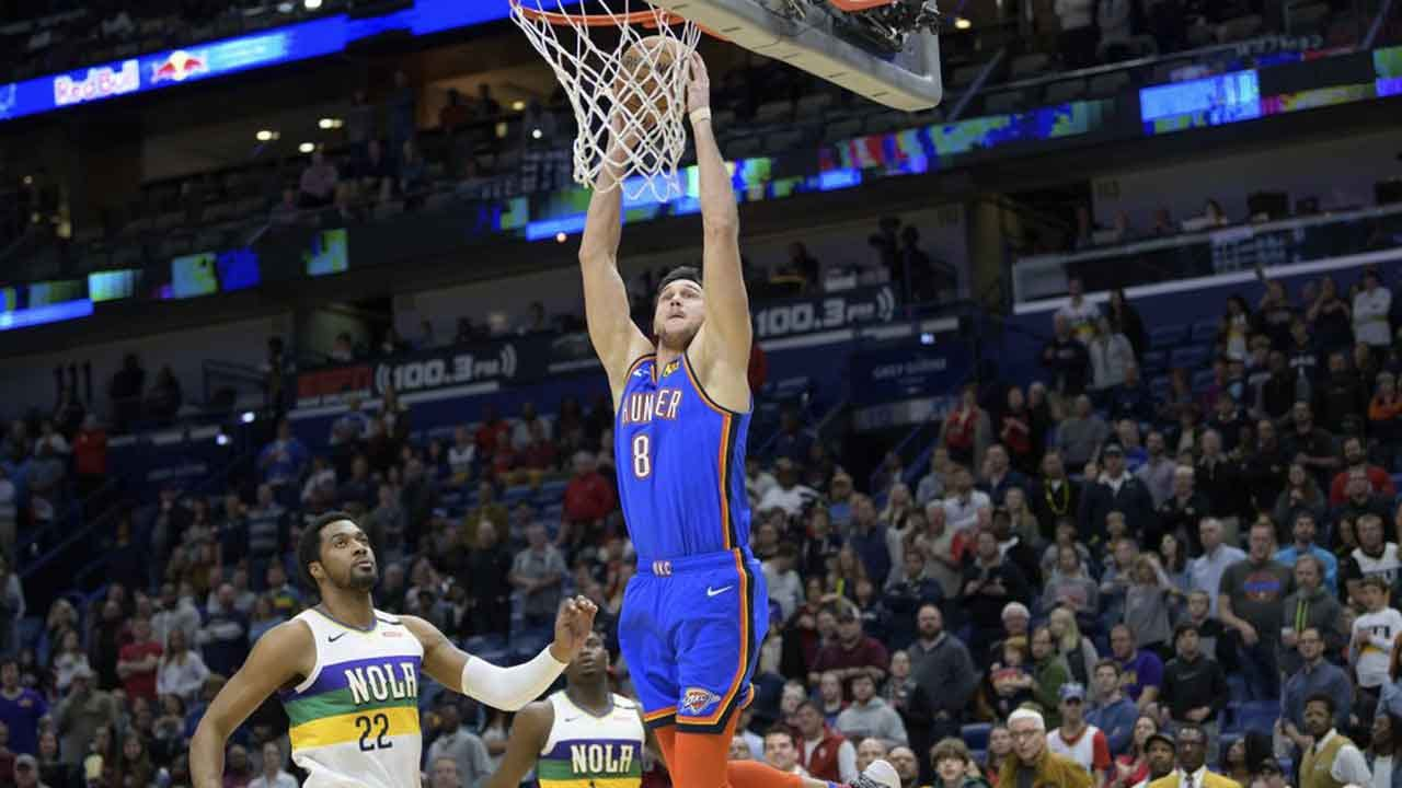 Gallinari, Paul Push Thunder Past Zion, Pelicans 123-118