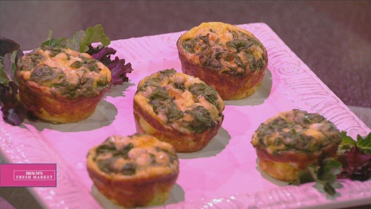 Mini Spinach Feta Quiches