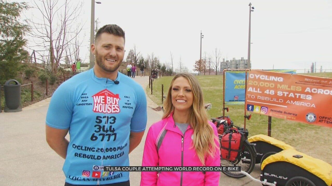Tulsa Couple Aims To Break Longest E-Bike Journey Guinness World Record
