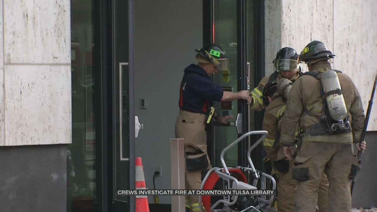 Fire In Tulsa's Central Library Believed To Be Started On Purpose, Firefighters Say