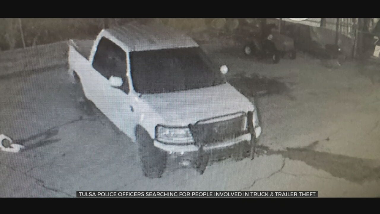 Tulsa Police Searching For Stolen Truck & Trailer