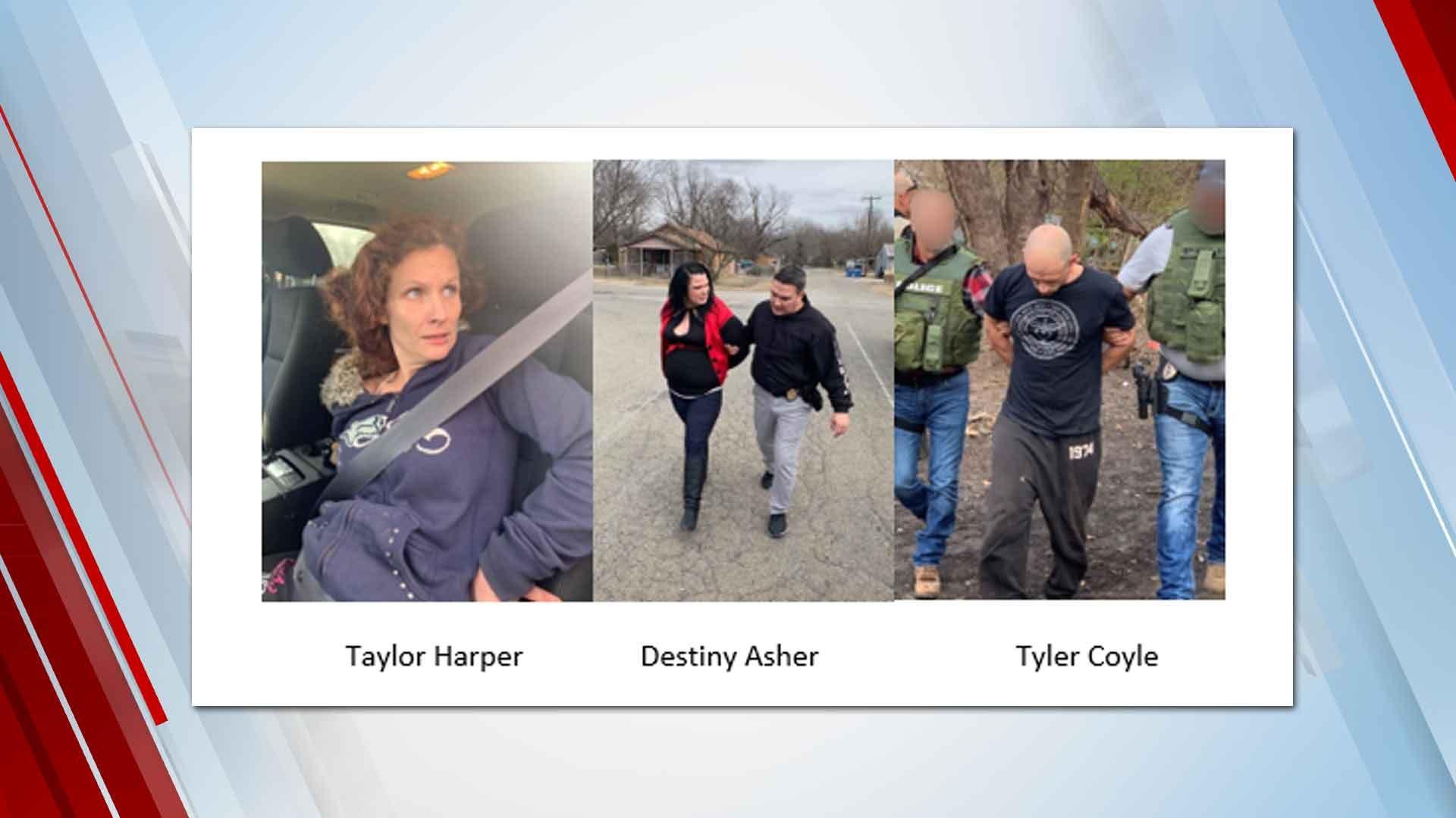 Tulsa Co. Deputies Arrest 3 In Connection To Murder Last Month