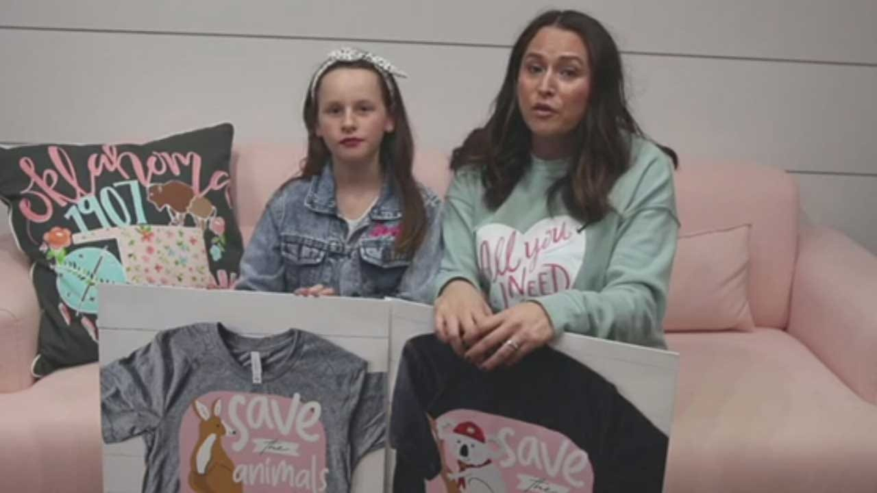 OKC Mom & Daughter Duo Raise Money For Devastated Australian Wildlife