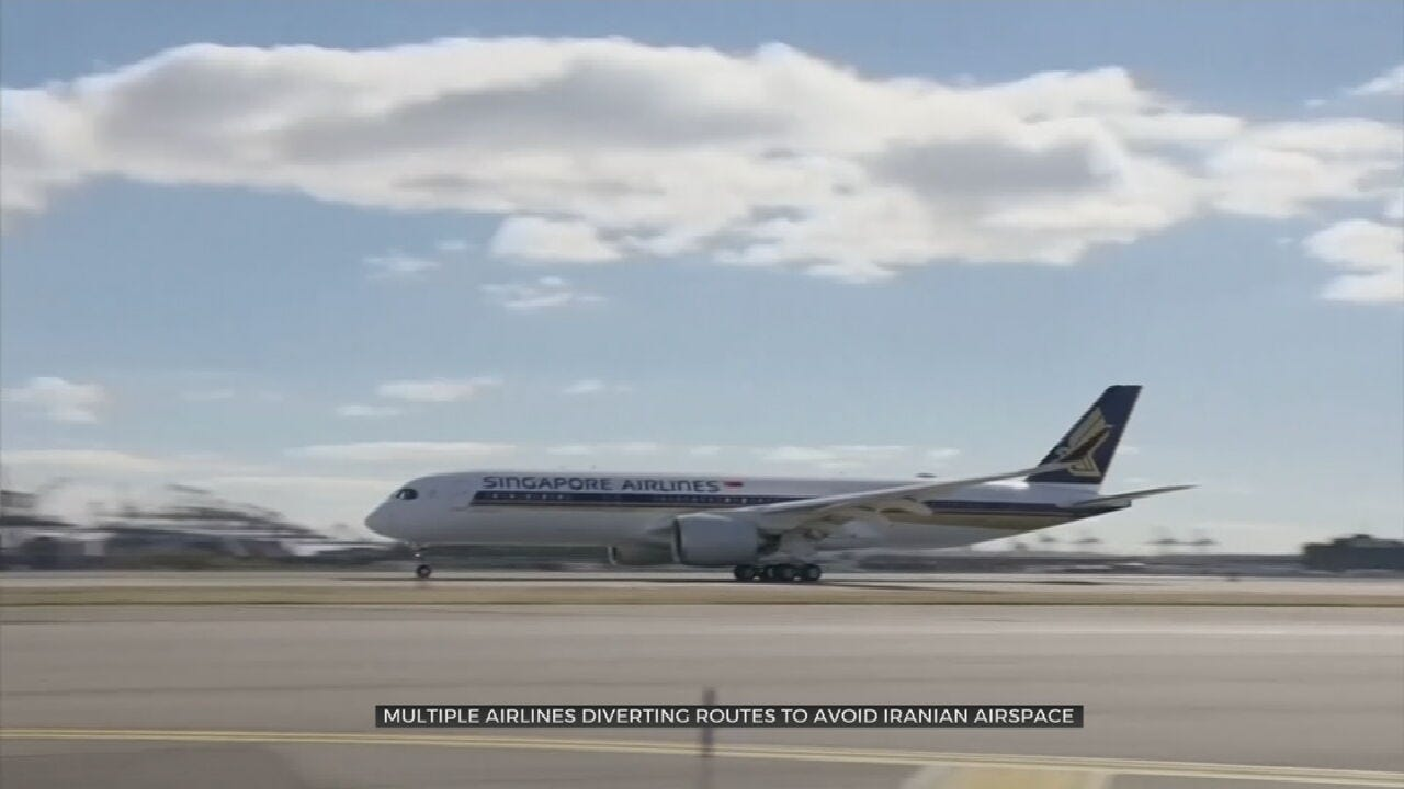 Commercial Airlines Reroute Flights Amid U.S.-Iran Tensions