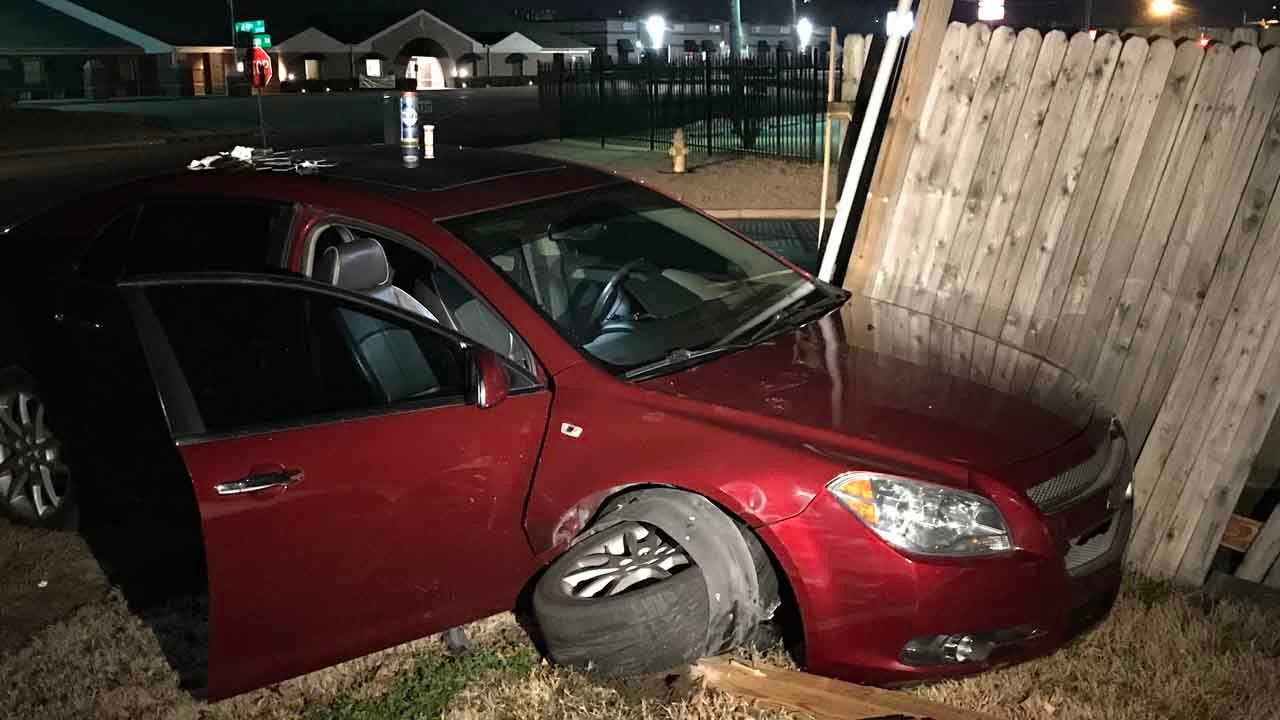 Man Accused Of Public Drunkenness Arrested After Car Hits Fence
