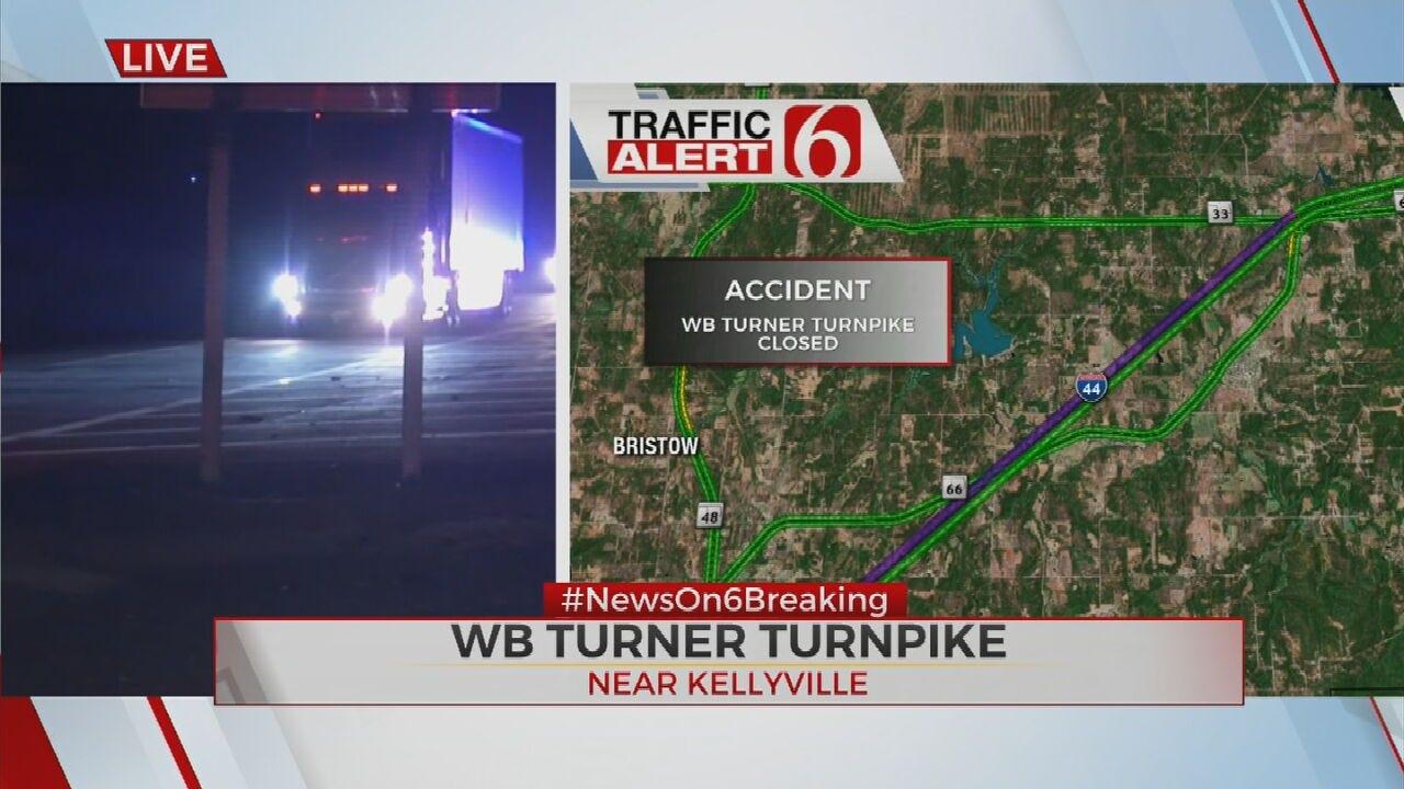 Westbound Turner Turnpike Traffic Diverted Due To Crash