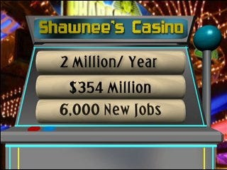 Shawnee Tribe claims casino plans beneficial