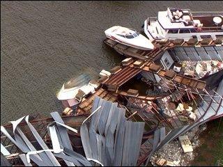 Storms damage Lake Texoma boats, marina