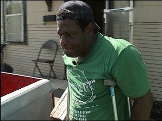 Man in wheelchair ticketed for parking in yard