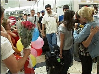 Families reunited after leaving Georgian conflict