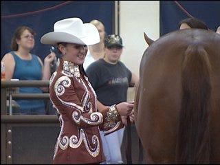 World championship horses face Oklahoma heat