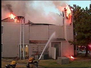 Fire damages Norman apartments